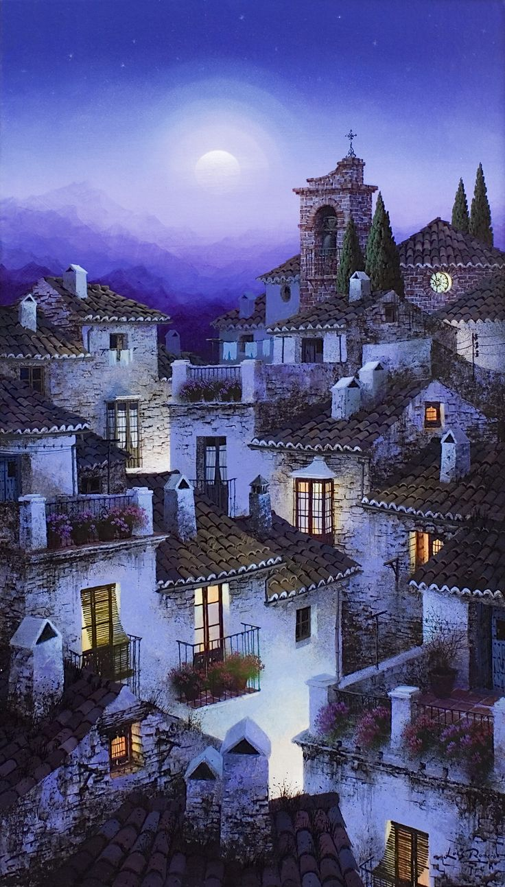 Luis Romero ~ Midnight In The Old Village~ Google Search