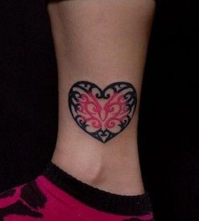tattoo heart foot tattoos butterflies swirls tattoo ideas lace tattoo ...