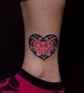 tattoo heart foot tattoos butterflies swirls tattoo ideas lace tattoo ...
