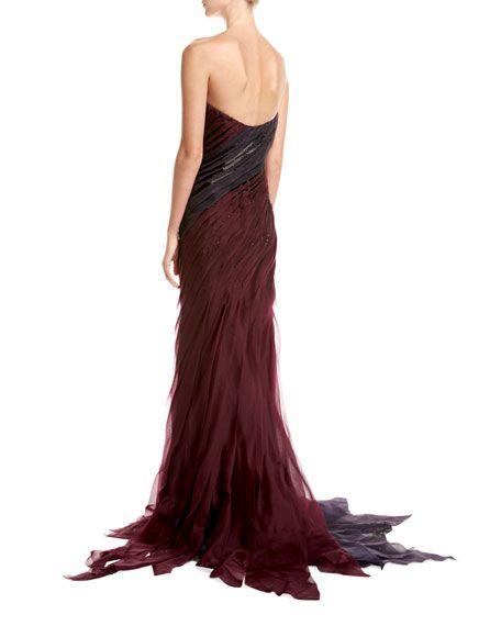 Strapless Organza Bias Gown (back)