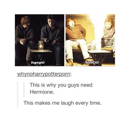 Y'all need Hermione. Harry and Ron funny