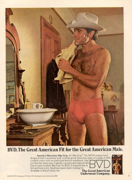 BVD Underwear Ad, 1980's