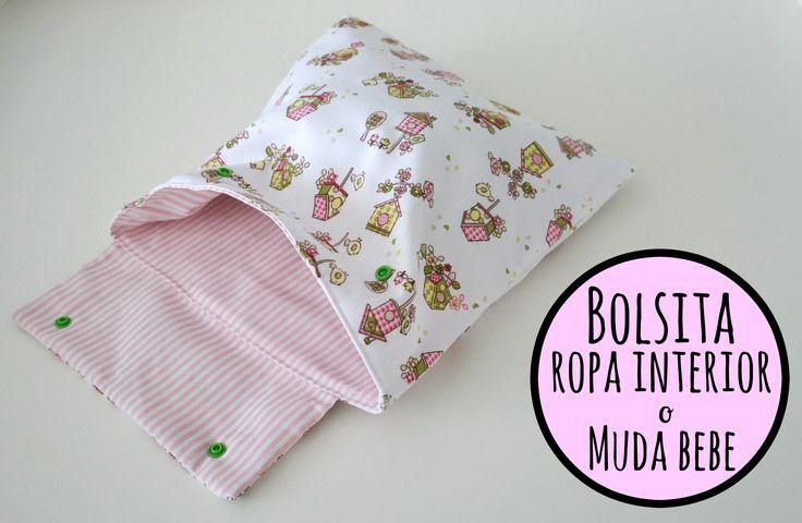 Tutorial DIY para hacer una bolsa para la ropa interior o la muda de beb...