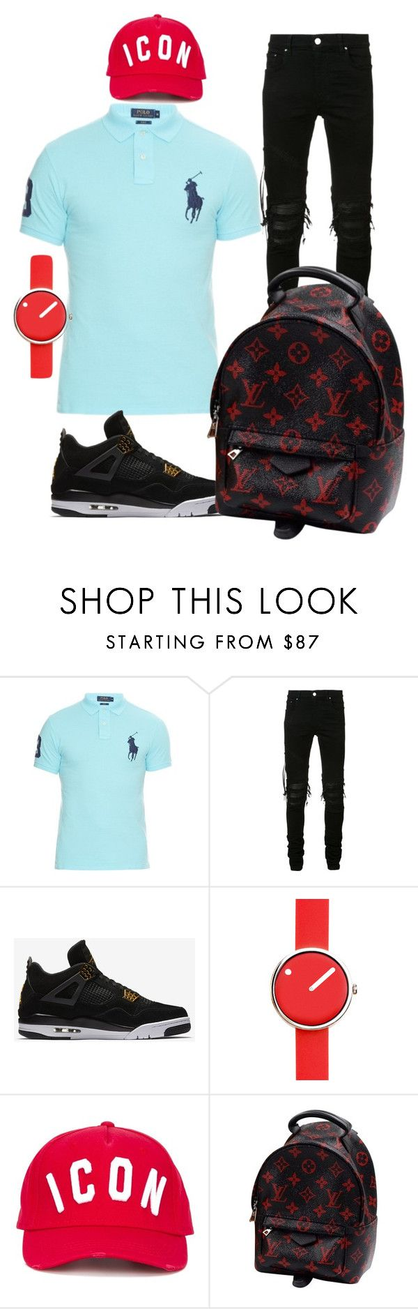 """beach day outfit"" by tommy-el-yhan-pelle on Polyvore featuring Polo Ralph Lauren, AMIRI, NIKE, Rosendahl, Dsquared2, Louis Vuitton, men's fashion and menswear"