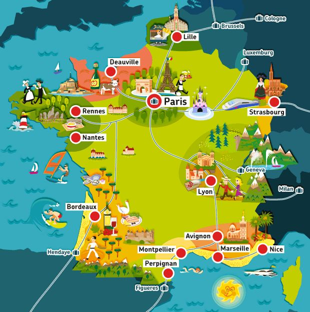 Whether you prefer an active, gastronomic, cultural or relaxed getaway: our online travel guides reveal the delights of the French regions at a glance! Description from travel.be.voyages-sncf.com. I searched for this on bing.com/images