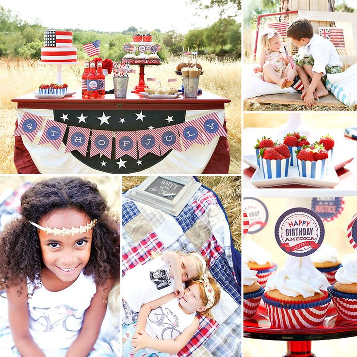 Happy Birthday America! Rustic 4th of July Picnic by Paiges of Style on the blog today! http://hwtm.me/10RFQMg