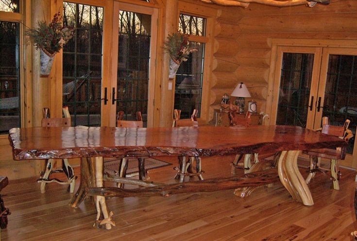Large Rustic Dining Room Table rustic log tables |  log furniture collection log dining rustic