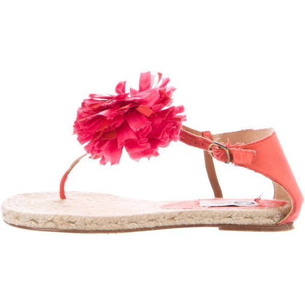 Pre-owned Lanvin Floral Espadrille Sandals (8.460 RUB) ❤ liked on Polyvore featuring shoes, sandals, pink, ankle strap espadrilles, multi color sandals, espadrilles shoes, ankle strap sandals and pink espadrilles