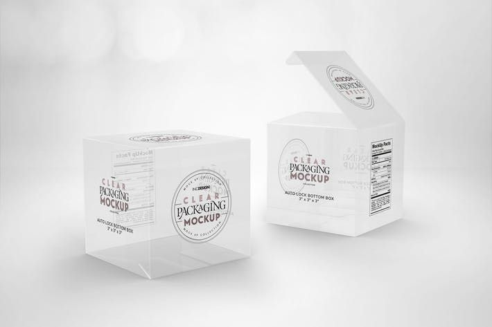 Download Clear Lock Bottom Boxes Packaging Mockup Mockups Design Graphicdesign Templates Mockup