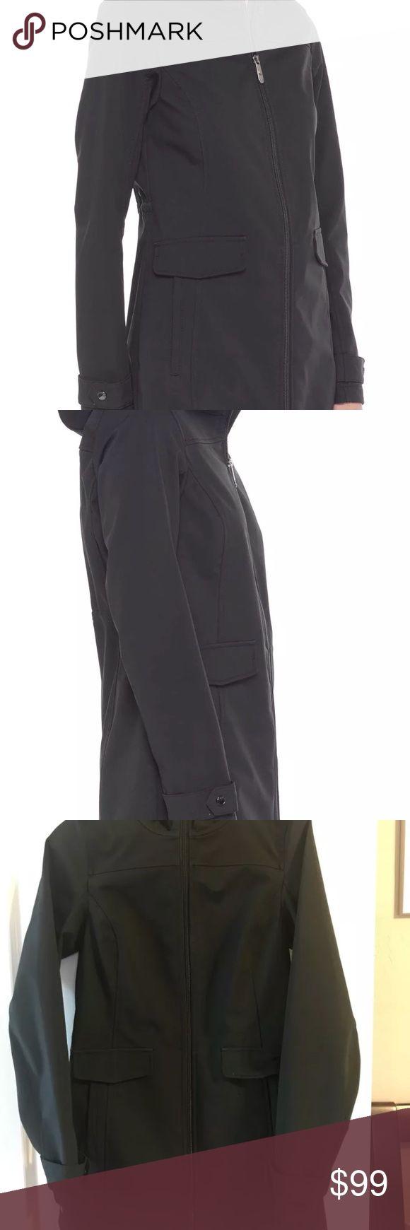 Lole Avenue Jacket XS Cute Lole Avenue Jacket in Black Size XS. Waterproof soft shell exterior, lightly fleece line interior. Hood with cinch, waist cinch, flattering cut and longer length. Lole Jackets & Coats