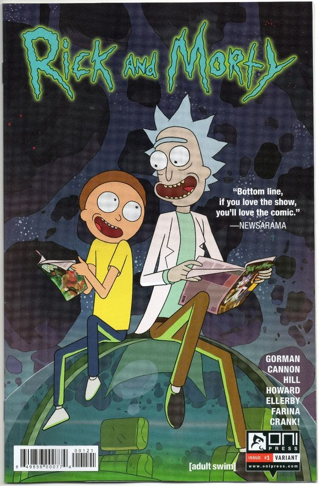 Rick And Morty #1 / Hot Topic Promo Variant / Oni Press / Comic Book / Selling Now!!!