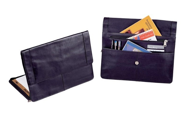 "Winn ""The Consul"" Leather Legal-Sized Portfolio  This leather portfolio has plenty of pockets and is legal sized"