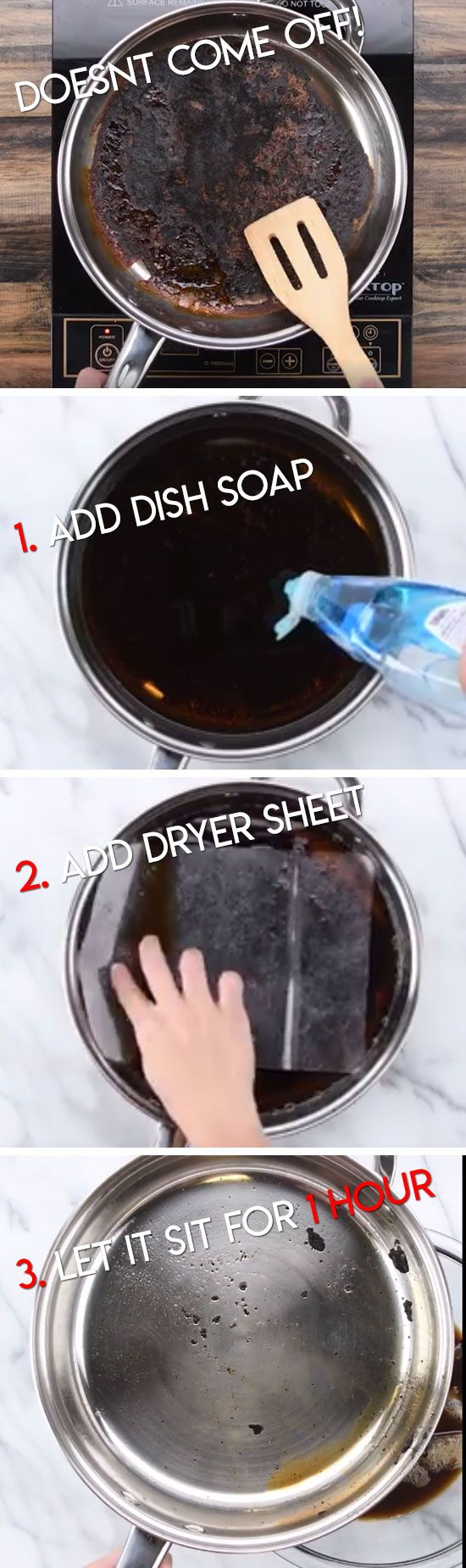 No Scrub Pan Clean | Life Hacks Every Girl Should Know | Lazy Girl Cleaning Hacks Tips and Tricks