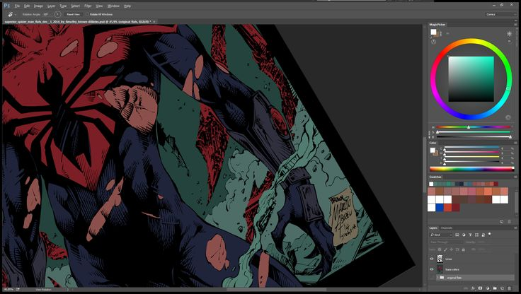 Here is WIP 02 of the Superior SpiderMan that i colored. #comics #Marvelcomics #spiderman #superiorspiderman #makecomics  Pencils by Marcio Abreu  Inks by Devgear Flats by Timothy Brown Colors by Nimesh Morarji (me)  Dont forget to LIKE my page on facebook (https://goo.gl/Y7Dl4k )so you can see the hi res version of the final image ;)  If you like my colors and you need someone to color for you, feel free to drop me a message