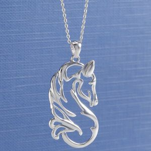 Sterling Quiet Beauty Necklace - Horse Themed Gifts, Clothing, Jewelry & Accessories all for Horse Lovers