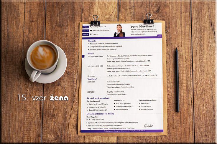 Zaujal vás náš nový vzor životopisu na první pohled? Splnil svůj účel. http://www.pro-cv.cz/produkt/pro-cv-15-vzor-zena/