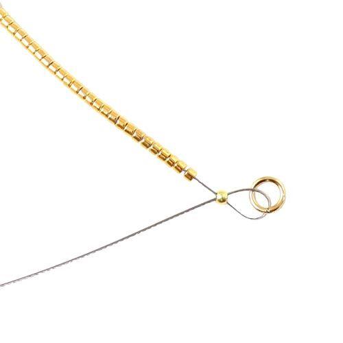 Afslutning af armbånd med delica perler
