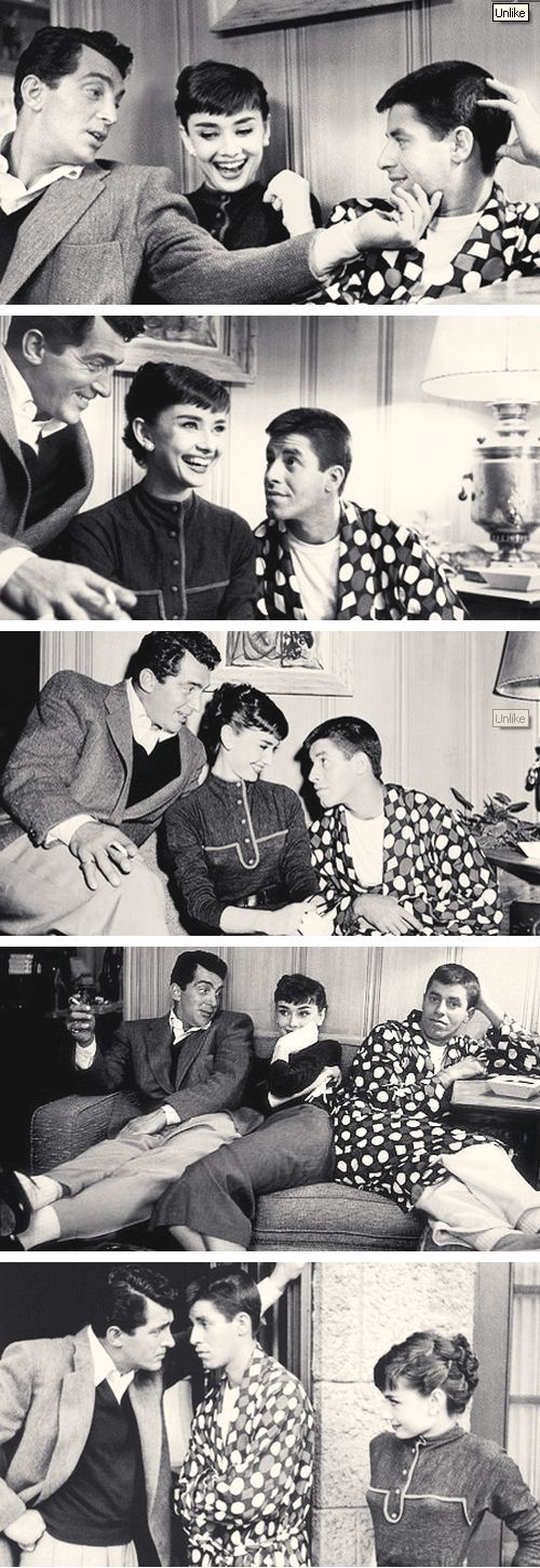 dean martin, jerry lewis & audrey hepburn, in honor of Audrey Hepburn's birthday, today, May 4th
