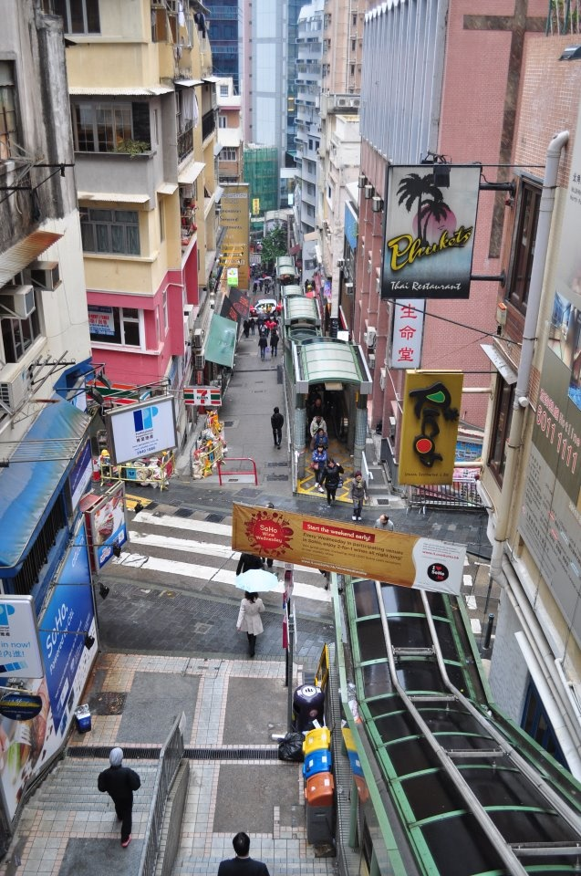 The famed escalators of Hong Kong