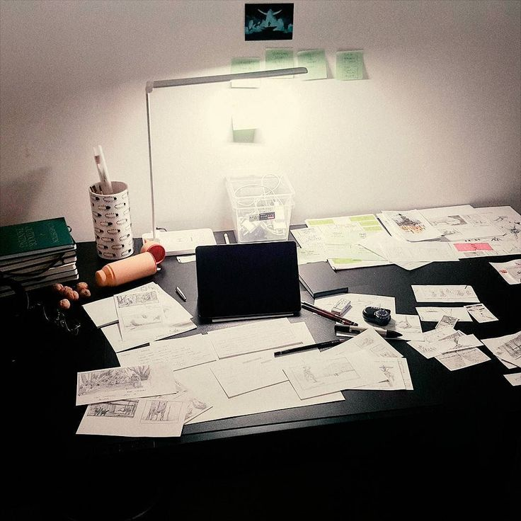 Thats where ideas are born. Well at least some of them. My messy desk with tons of notes and sketches. . . . . #Mooeti #Conceptverse ##artursadlos #me #myworkspace #workspace #workplace #desk #artsupplies #sketching #designing #ideas #working #ateloer #messy #wip #drawing #myplace #artistonistagram