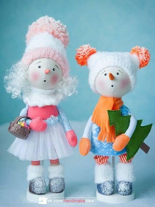 Muñecos de nieve modernos