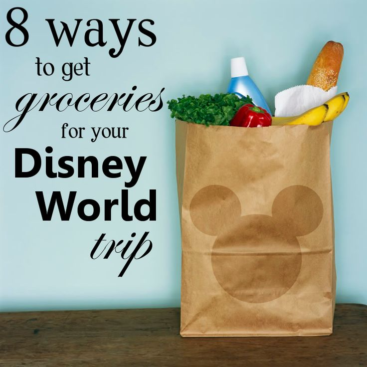 So you're planning a trip to Disney World and would like a few groceries to have in your room. How will you get them? There are lots of options, each with its own benefits. Let's take a look at 8 different ways to get groceries when visiting Disney World and the pros/cons of each. #dvcrentals