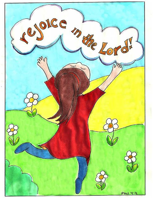 Doodle Through The Bible: Rejoice in the Lord! Philippians 4:4; This blog has lots of free coloring pages.  Some have a verse and others cover a chapter.