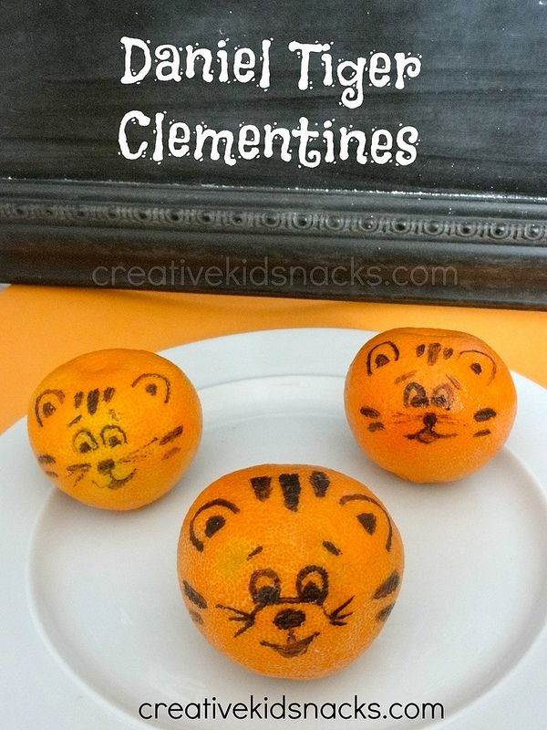 Daniel Tiger Clementine Oranges - perfect healthy snack to serve at a Daniel Tiger Birthday Party!
