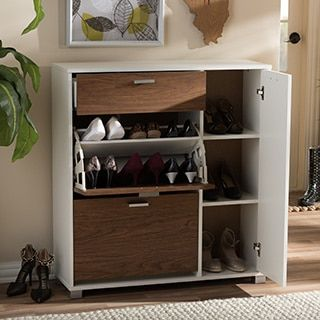 Shop for Baxton Studio Chateau Storage Shoe Black Cabinet. Get free shipping at Overstock.com - Your Online Home Improvement Outlet Store! Get 5% in rewards with Club O!