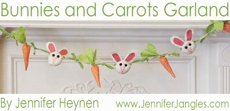 Bunnies and Carrots Garland - Jennifer Jangles
