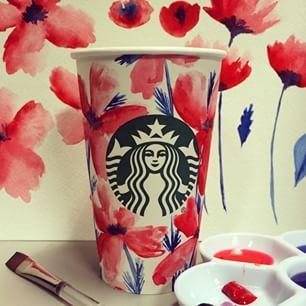 watercolor flowers for @starbucks :)
