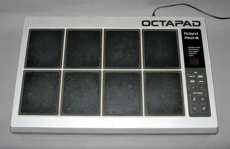 OCTAPAD ROLAND PAD-8  Electronic Drum Pad MIDI Controller Vintage Percussion #Roland