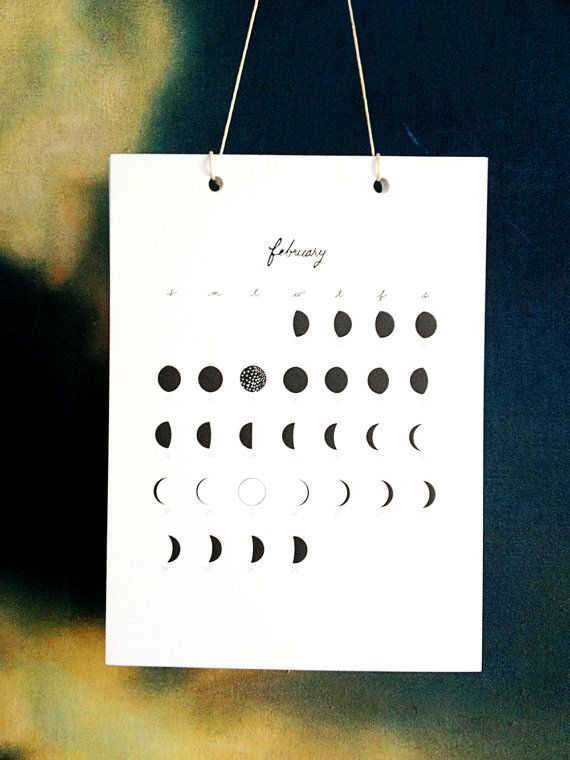 2012 Lunar Calendar w phases of the moon. Made with my good friend Stephanie Levy