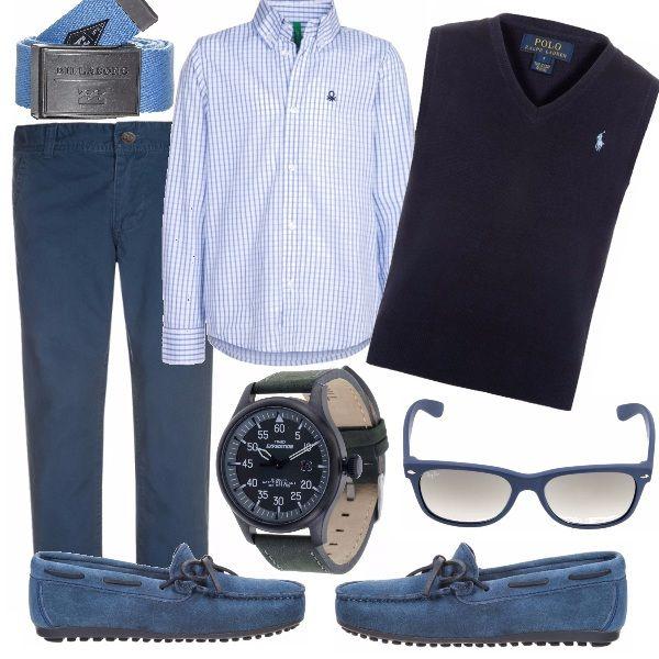Tempo di Prima Comunione per il giovanotto? Ecco la soluzione, semplice elegante e completa dei regali, l'orologio e gli occhiali, ricevuti il gilet da ' grande' dona il giusto mood per l'occasione! Auguri!