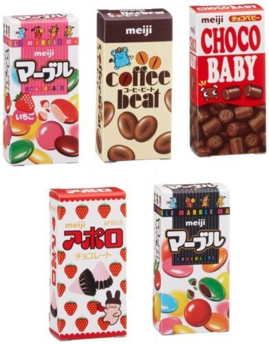 meiji Petit Mini assort 5 Candy Pack Dagashi Chocolate JAPAN http://ebay.to/1rPXAGk