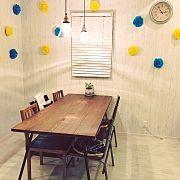 Kitchen/ダイニングテーブル/ベンチ/ペンダントライト/ウッドブラインド/ナチュラルインテリア...などのインテリア実例 - 2016-07-09 03:38:33|RoomClip (ルームクリップ)