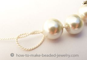 how to knot pearls.. perfect for restringing an old or broken necklace