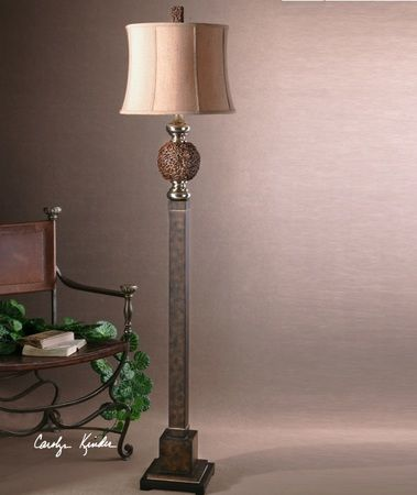 Knotted Rattan Floor Lamp