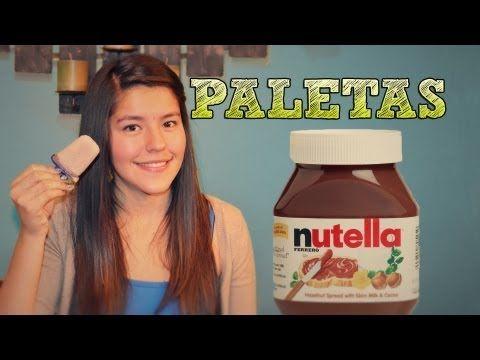 Paletas de Nutella FACIL | ¿Como hacer paletas de hielo? | Paletas de chocolate caseras - YouTube
