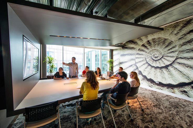 Google Campus Dublin | Gasworks - Brainstorming Space - Floor Identity: Peaks & Troughs #GoogleDublin, #Office, #WallGraphics