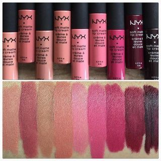 Great things come in small packages. L-R: #Athens #London #Cannes #Stockholm #Istanbul #Milan #Prague #Copenhagen #Transylvania. @nyxcosmetics #nyx #softmattelipcream #affordable #ulta #matte #lipsticks #Londonismyfav | ✨? two6too?✨ | Ulta Beauty