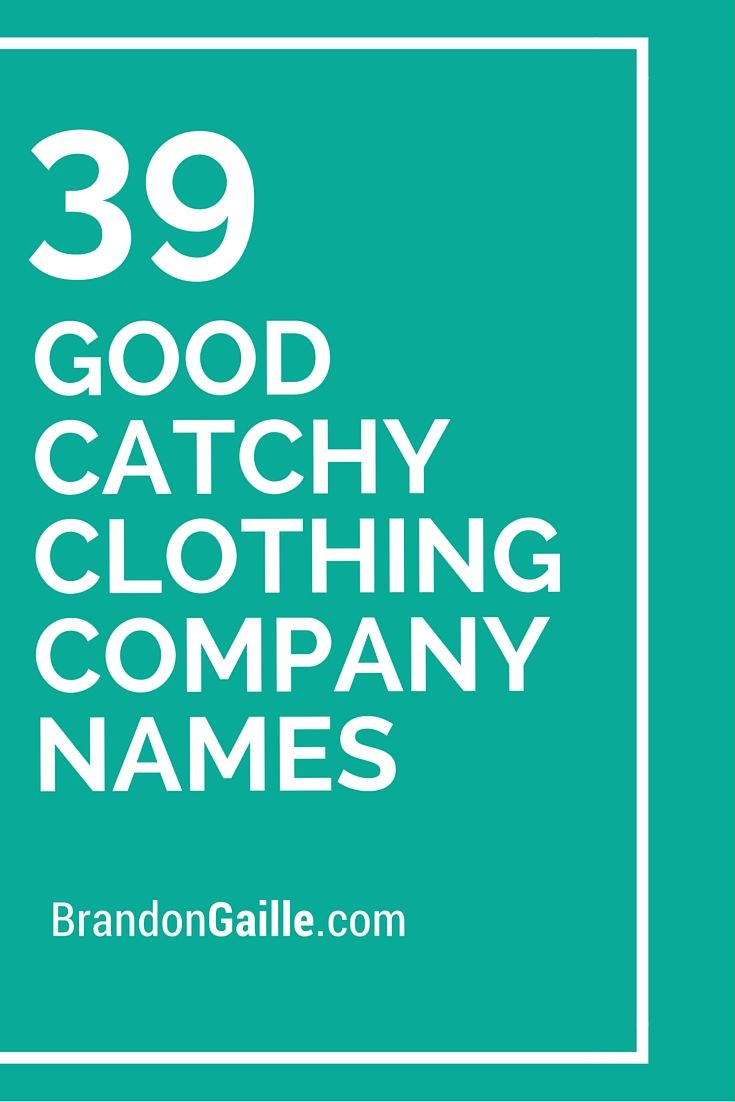In good company clothing
