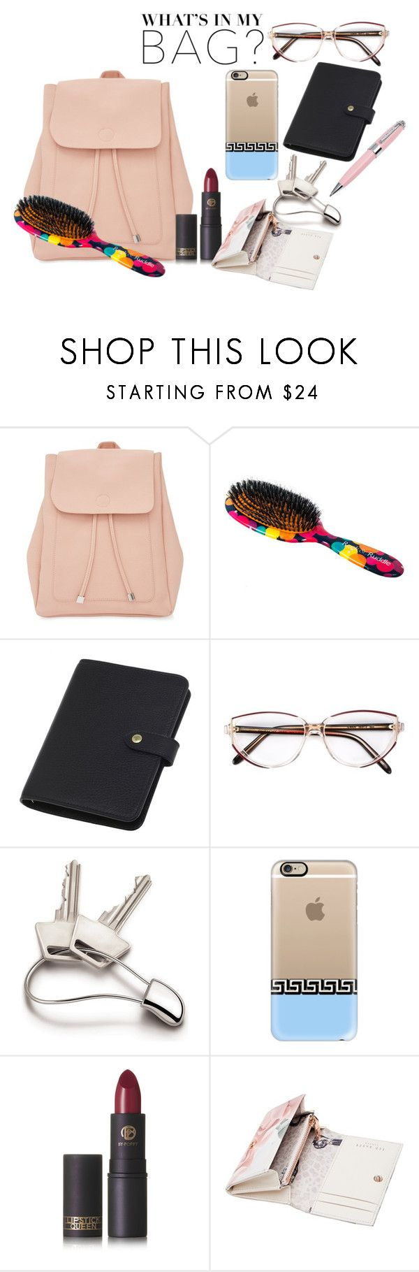 """""""In My Backpack"""" by victoria-ronson ❤ liked on Polyvore featuring New Look, Rock & Ruddle, Mulberry, Givenchy, Georg Jensen, Casetify, Lipstick Queen, Ted Baker, ICE London and backpack"""