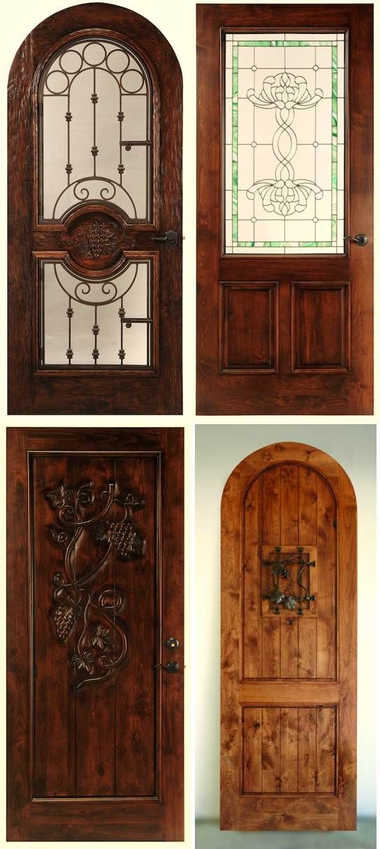 Used Wine Cellar Iron Doors | Custom Wine Cellar Wood Doors also with Glass and Wrought Iron ...