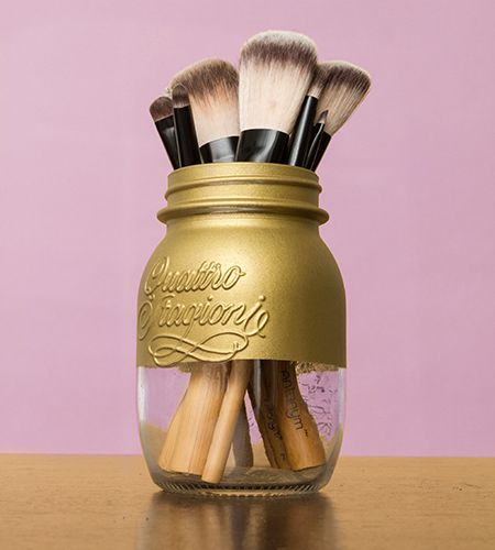 how to spray painted mason jars three ways birchbox. Black Bedroom Furniture Sets. Home Design Ideas
