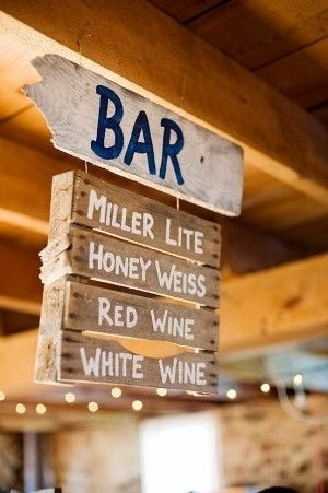 I think this would look great hanging from our bar, only substitute a few of the drinks...