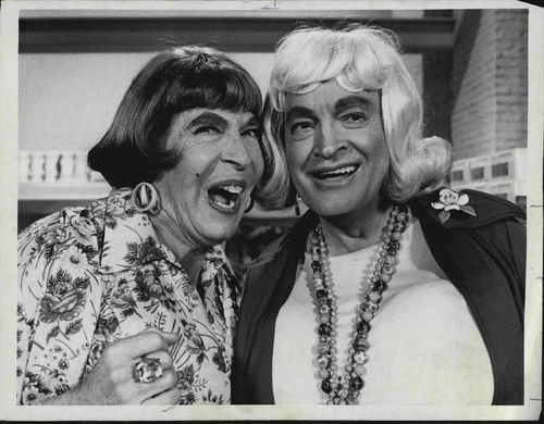 Milton Berle and Bob Hope in drag