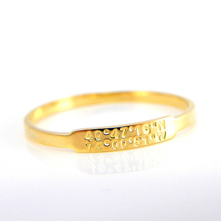 Us Lat Long Map%0A Dainty Coordinates Gold Ring Stackable Band Latitude Longitude Ring  Personalized Location Jewelry Location Ring Custom ring