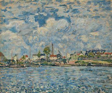 """Alfred Sisley, """"La Seine au Point du jour"""" (1877), Museum of modern art André Malraux - MuMa, Le Havre"""