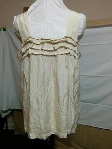 Beige Cami Blouse Rayon and Silk Nurture Size L Elastic Ruching Wide Straps  | eBay
